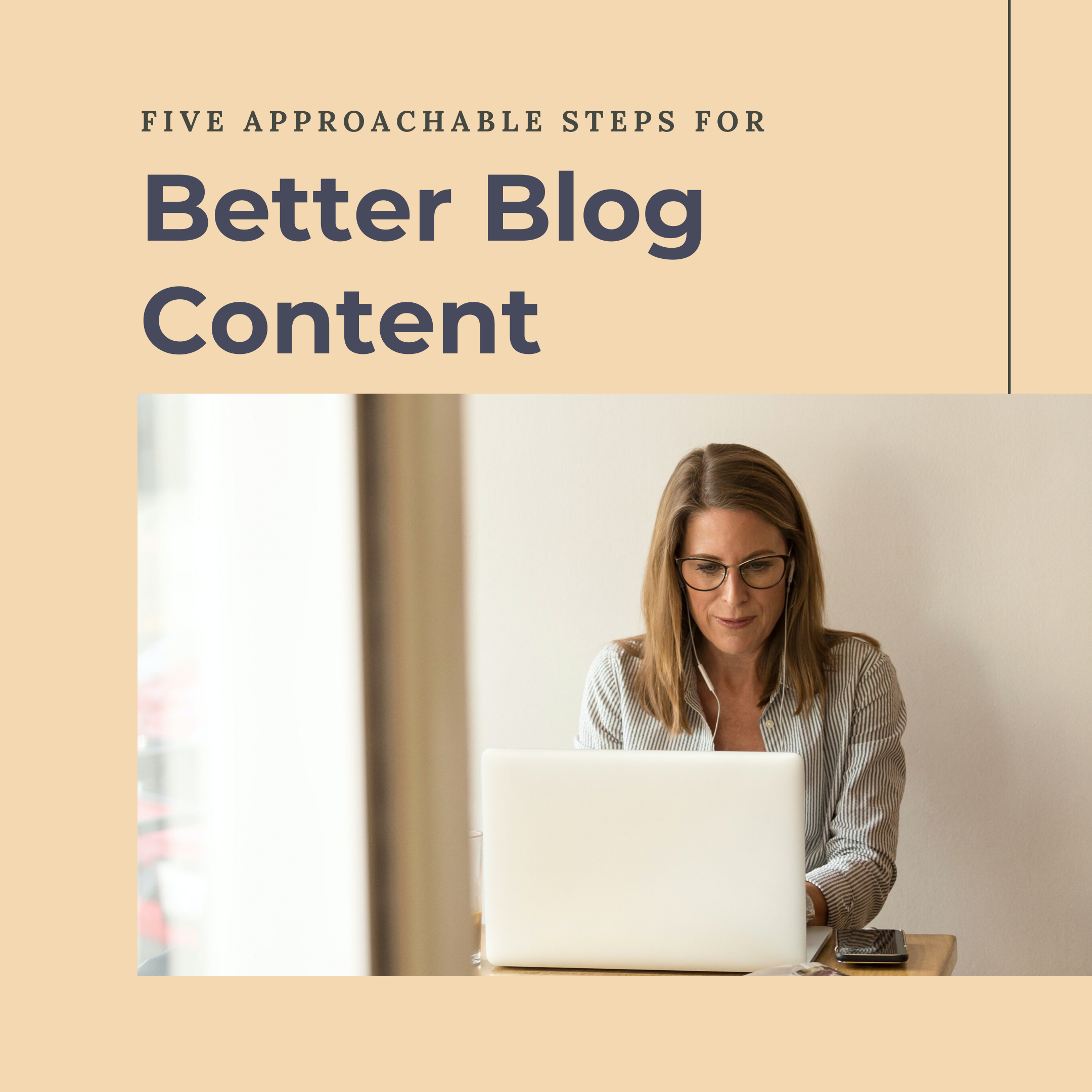 Writer creating better blogging content